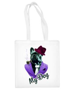 """Medvilninis pirkinių krepšys """"Dog In Fashion"""", Manodovanos.lt, susikurkite savo dovaną"""