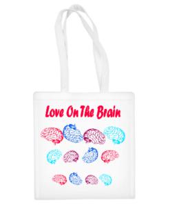 """Medvilninis pirkinių krepšys """"Brain Love"""", Manodovanos.lt, susikurkite savo dovaną"""