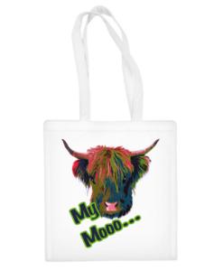 """Medvilninis pirkinių krepšys """"""""My Mooo"""""""", Manodovanos.lt, susikurkite savo dovaną"""