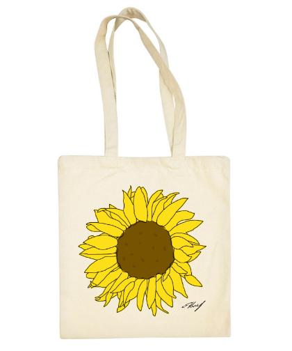 """Medvilninis pirkinių krepšys """"Saulėgrąža"""" - visiems"""
